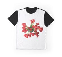 Red Tulips Flowers Graphic T-Shirt
