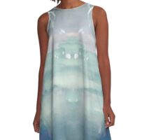Pastel Shadows A-Line Dress