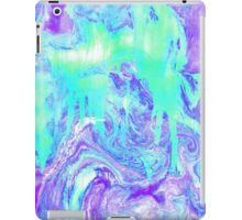Melting Marble in Mint & Purple iPad Case/Skin