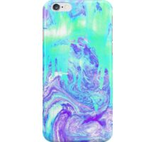Melting Marble in Mint & Purple iPhone Case/Skin
