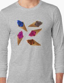 Ice Cream Everywhere! Long Sleeve T-Shirt