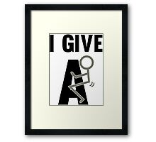I give a fuck funny protest text Framed Print