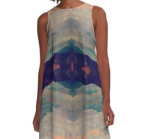 Pastel Earth A-Line Dress