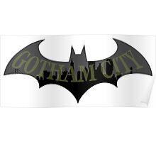Gotham City Bat Poster