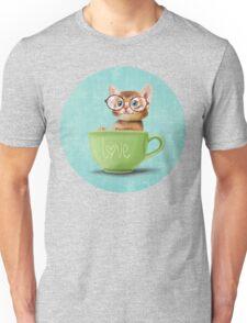 Kitten in a big cup Unisex T-Shirt