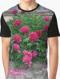 Red Peonies Graphic T-Shirt