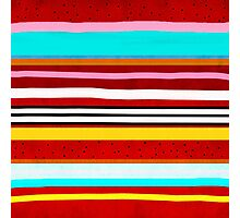 Watermelon Red Striped Colors Photographic Print