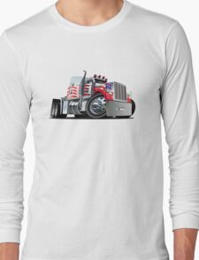 Cartoon Semi Truck Long Sleeve T-Shirt