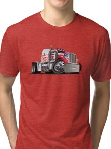 Cartoon Semi Truck Tri-blend T-Shirt