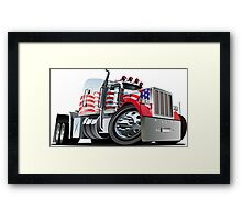 Cartoon Semi Truck Framed Print