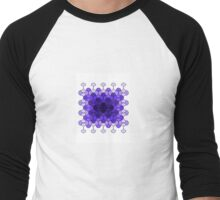 Purple rectangle of curves Men's Baseball ¾ T-Shirt
