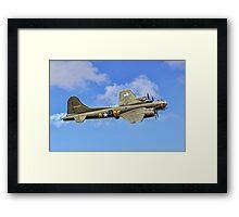 """B-17G Fortress II G-BEDF """"Sally B"""" Framed Print"""