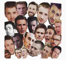 Chris Evans' face edits Kids Tee