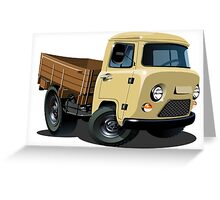 Cartoon delivery cargo pickup Greeting Card