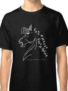 save a horse free a spirit pillow or tote black/purple Classic T-Shirt