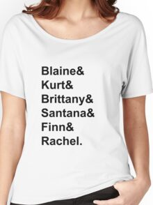Glee Main Characters T-Shirt Women's Relaxed Fit T-Shirt