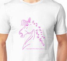 Save a Horse Free A Spirit purple outline Unisex T-Shirt