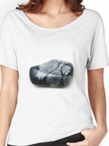 Cutout of a Snowflake Obsidian gemstone on white background Women's Relaxed Fit T-Shirt