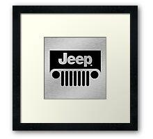 Jeep Steel Chrome Framed Print