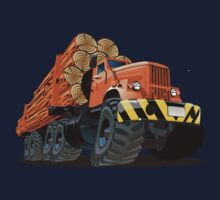 cartoon logging truck One Piece - Short Sleeve