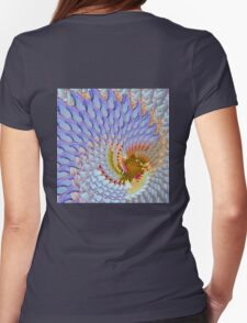 Blue Swirl Womens Fitted T-Shirt