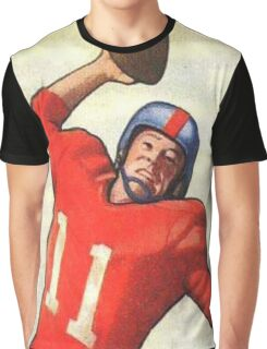 Vintage Football Player Graphic T-Shirt