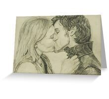 Kissing in Neverland  Greeting Card