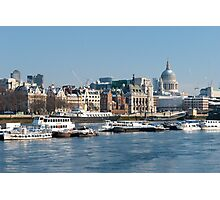Winter on the Thames Photographic Print