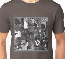 GREY-TONE GRAPHIC ABSTRACT Unisex T-Shirt