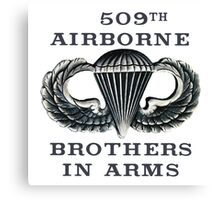 Jump Wings - 509th Airborne - Brothers in Arms Canvas Print