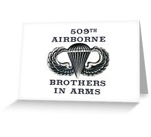Jump Wings - 509th Airborne - Brothers in Arms Greeting Card