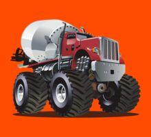 Cartoon Mixer Monster Truck Kids Tee