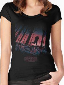 Stranger Things Run Women's Fitted Scoop T-Shirt