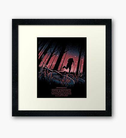 Stranger Things Run Framed Print