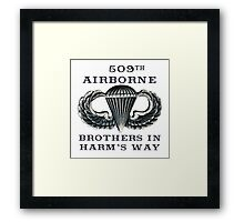 Jump Wings - 509th Airborne - Brothers in Harm's Way Framed Print