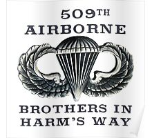 Jump Wings - 509th Airborne - Brothers in Harm's Way Poster