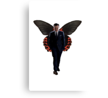 Moriarty with butterfly wings  Canvas Print
