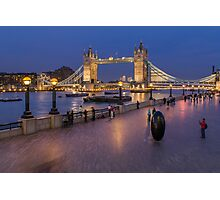 Tower Bridge and Thames Path Photographic Print