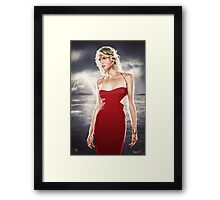 Caprica Six Framed Print