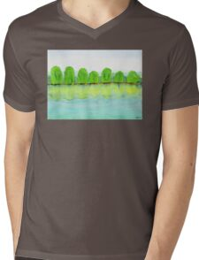 Trees Refecting On The Water Mens V-Neck T-Shirt