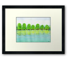 Trees Refecting On The Water Framed Print