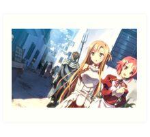 Sword Art Online Asuna and  Lisbeth Art Print