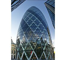 London The Gherkin - St Mary AXE, 180 m. / 590 f Photographic Print