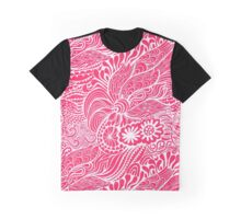 Strawberry Abstract Graphic T-Shirt