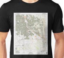 USGS TOPO Map Arizona AZ Tucson East 313826 1992 24000 Unisex T-Shirt