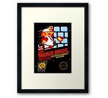 Super Mario: Box Art Framed Print