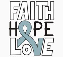 Faith Hope Love - Prostate Cancer Awareness Baby Tee
