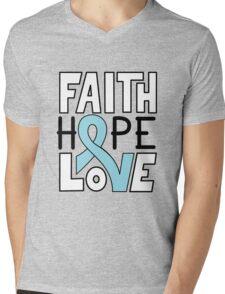 Faith Hope Love - Prostate Cancer Awareness Mens V-Neck T-Shirt