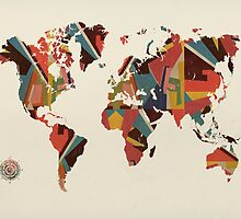 world map abstract  by bri-b