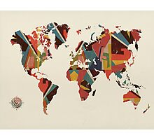 world map abstract  Photographic Print